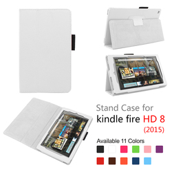 Danycae Hot New Stand Design Magnetic PU Leather Crash-Proof Protective Case Cover for Fire HD 8 Tablet