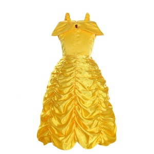 MAC-0003 Party halloween kids yellow Princess Belle fancy dress costume