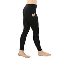 JUSFO Eco Friendly Breathable Recycled Women Yoga Wear Fitness Bottom Sports Pants Track Pants Leggings with Pockets