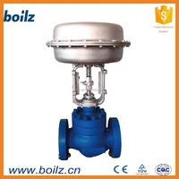 2 way pnematic gas application valve cage type pneumatic actuator