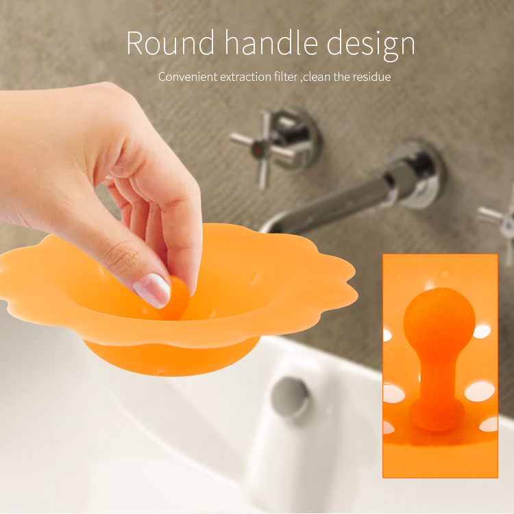 Bathroom product silicone drain filter silicone shower floor drain