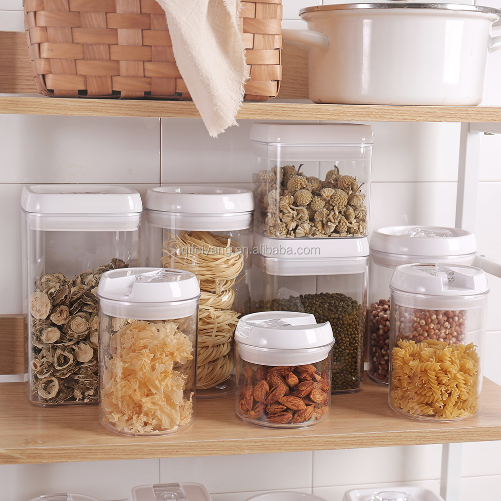 Airtight Container Set for Food Storage 4 Piece Set Strong Heavy Duty Plastic BPA Free Airtight Storage Clear Plastic Easy Lock