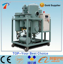 Waste turbine oil purifying machine removing high water content,eco-friendly,turbine oil filter