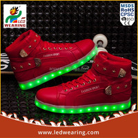Stock Ready sneakers led shoes for women/men light weight safety shoes