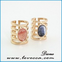 2016 New Design Lady Finger Ring Rose Gold with Gemstone Crystal
