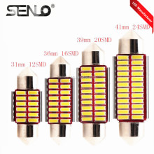 c3w c5w c10w 31mm 36mm 39mm 41mm 42mm led car interior Dome light decoration 24smd 4014 led reading roof light festoon 12v-24v