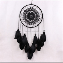 wholesale Black goose feathers indian dreamcatcher for Car ornaments