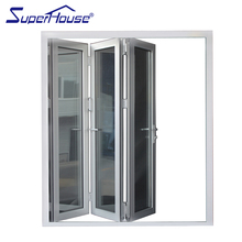 Superhouse Good Looking And Latest Design Aluminum Bifold Glass Door For Fancy House