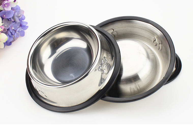 All Size Stainless Steel No tip No Slip Dog Bowl / Puppy Pet Bowl / Dog Food Bowl