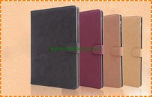Matte skin wallet leather case for ipad 6, retro leather case for ipad air 2