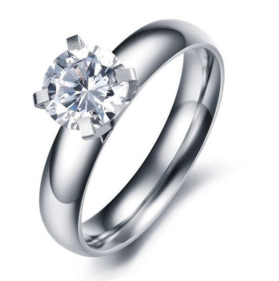 Fashion Jewelry 8K Sona Diamond Engagment Ring Jakarta Single Stone Finger Ring