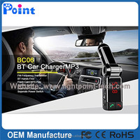 Bluetooth MP3 Player Handsfree Car Kit + Dual USB Charger + FM Transmitter with USB MP3 LCD Car Charger