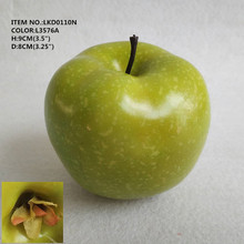 "3.5"" Wholesale Realistic Fake Green Apple Decorative Artificial Fruit"