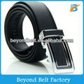 Beyond Men's Black Embossed Leather Automatic Buckle Official Dress Ratchet Belt