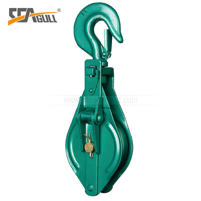 DY type factory price lashing snatch block,snatch pulley block with hook,manufacturer supply