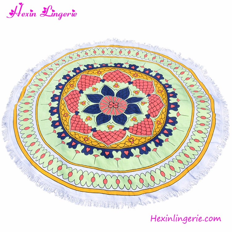 Wholesale round wall hanging blanket mandala indian tapestry