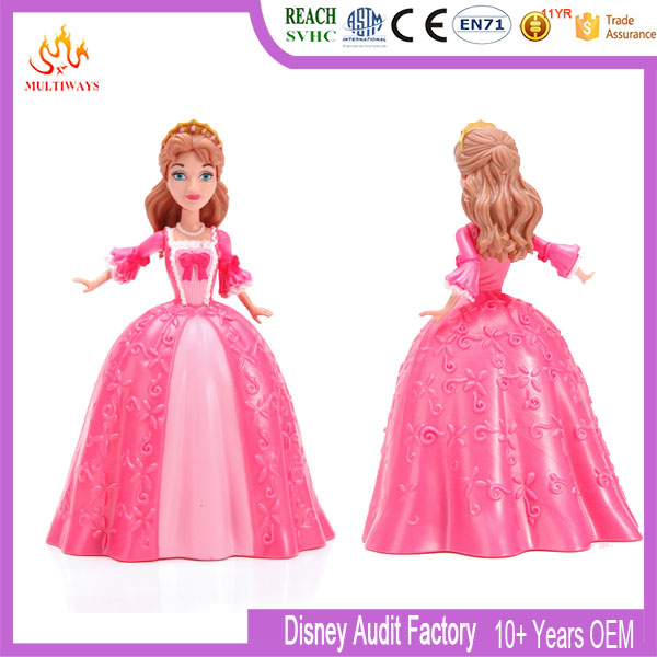 Hot selling beautiful lady plastic figure doll pretty girl doll