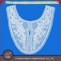 2016 new fashion promotional embroidery designs of saree blouse neck with elastic lace work