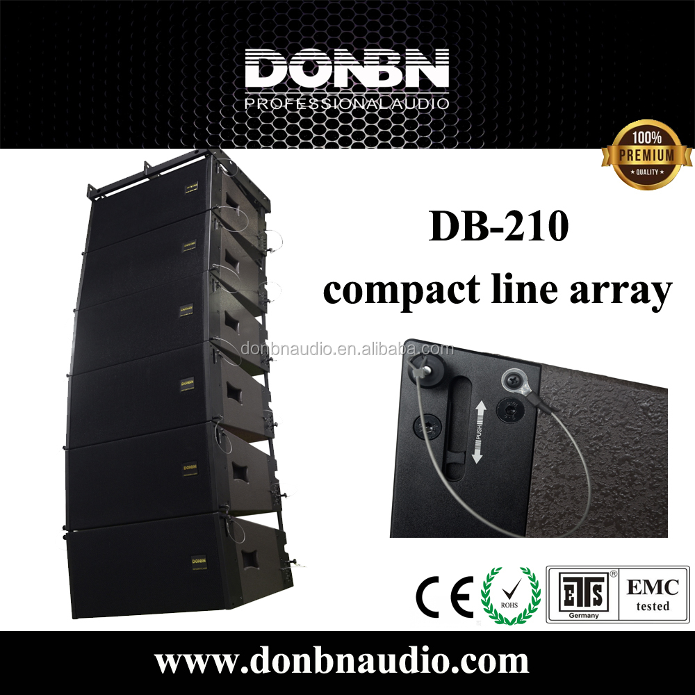 10 inch neodymium line array speakers, 400w power output, compact size and light weight
