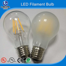 120V 230V dimmable 8w e27 COB Filament LED A19 frosted cover bulb Light