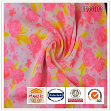 Factory sale price silk 100% polyester digital printed woman dress fabric