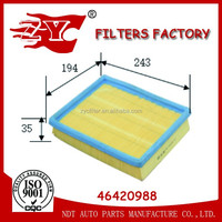 ZYC PU air filter 46420988/LX 887/C2569 for FIAT Albea