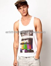 Promotional item men tanks with knitting yarn