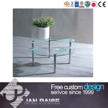 Unique design tempered glass heart-shaped coffee table OK-6032