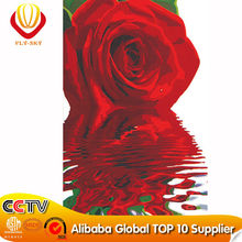 Red Rose Canvas Oil Painting for Wedding Decoration(40*50cm)