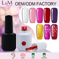 Guangzhou L & M Factory Empty Gel Polish Bottle 15ml Private Label Nail Polish