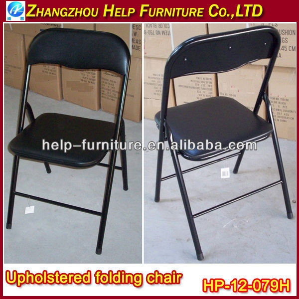 Vinyl Upholstered Metal Folding Chairs