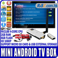 Quad Core SMART TV S400 GOOGLE ANDROID 4.2 RK3188 MINI PC WiFi Antenna HDMI