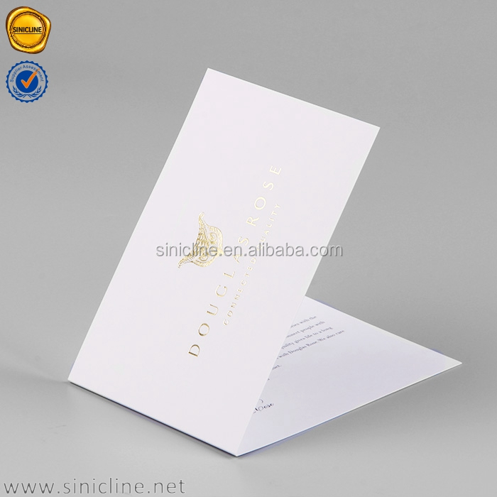 Sinicline factory price best selling gold foil thank you cards personalize