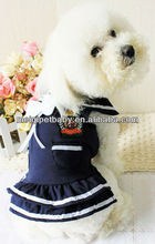 2013 Pet navy student dress/Dog clothes/Dog dress