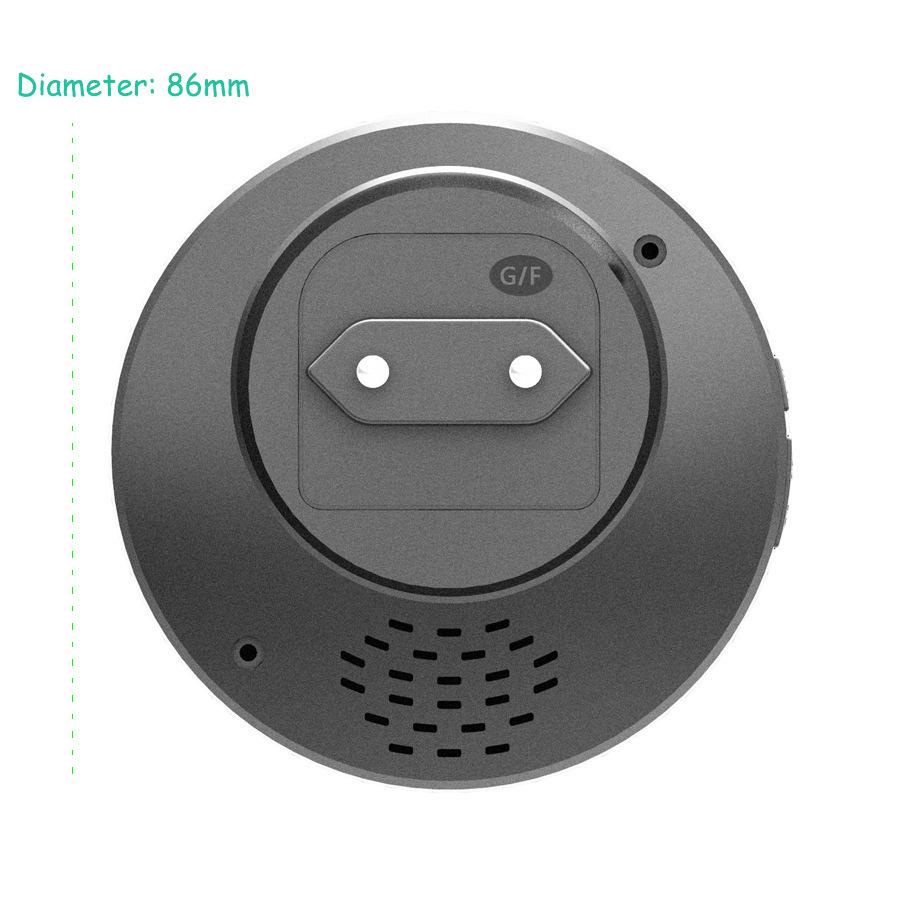 SMATRUL New Waterproof Wireless Doorbell EU Plug 300M Remote smart Door Bell Chime ring 1 2 button 1 2 3 receiver no battery Deaf Gorgeous lighting black 8