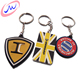 Promotion custom logo fashion 3d pvc plastic ring key chain