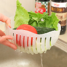 60 Seconds Salad Cutter Bowl wave shape easy salad maker kitchen tools fruit vegetable chopper cutter quick kitchen accessories