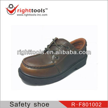 High Quality EN 20345 dark brown Safety shoes with genuine leather
