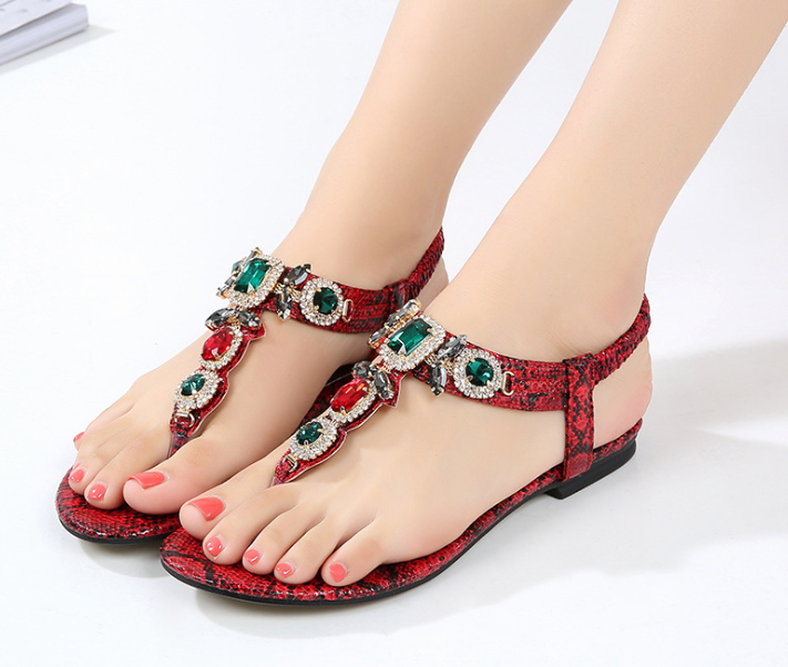 2019 new bohemian fashion ladies design <strong>sandals</strong> flat women diamond <strong>sandals</strong> summer beach diamond <strong>sandals</strong>