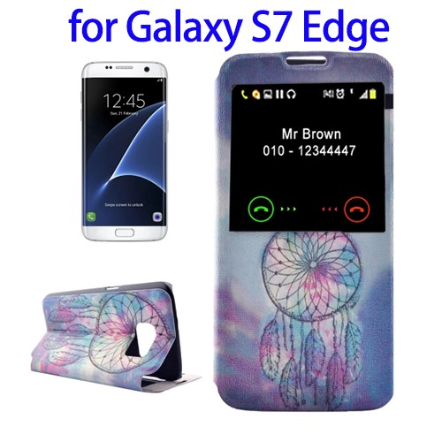 Colorful Flip Leather Cell Phone Case for Samsung S7 Edge Hot Selling