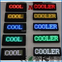 USB Rechargeable Programmable Electronic Mini Scrolling Name Led Badge
