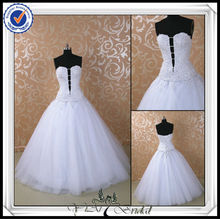JJ0054 Sexy Beaded Bling Ball Gown 2 In 1 Wedding Dresses