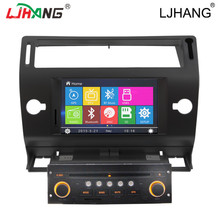 double din car dvd for citroen c4 gps navigation with auto radio Bluetooth SD USB Radio