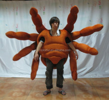 High quality plush fur halloween pumpkin mascot costumes for fun party show