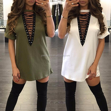 AL1022W Summer t shirt tops women dress ladies fashion dresses with pictures