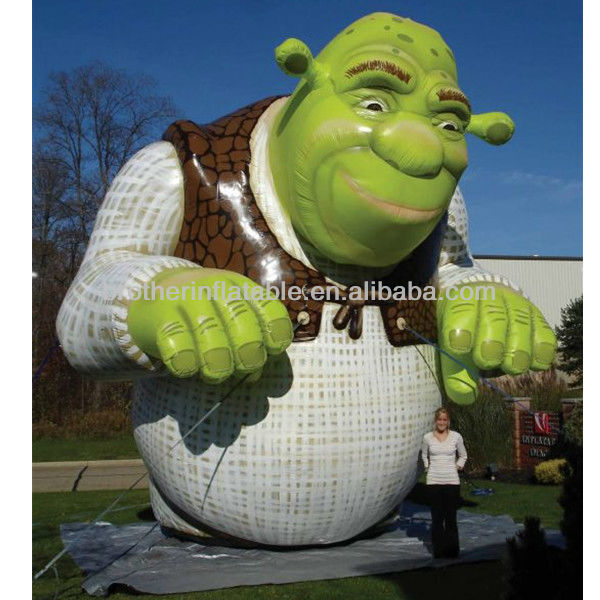 CA108 inflatable shrek cartoon figures