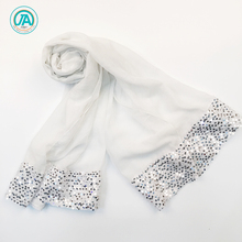 2018 new arrival fashion white glitter paillette sequins lightweight scarf shawl