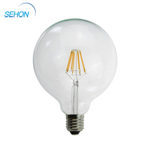 G80 G95 G125 LED globe glass 12V Led filament bulb round glass light cover