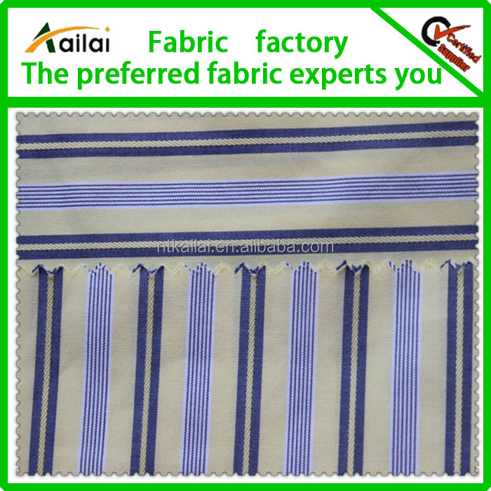 black and blue and white stripe cotton fabric