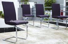 fabric chrome frame modern dinning chair